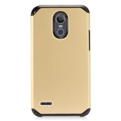 Insten Hard Hybrid Plastic TPU Cover Case For LG Stylo 3 Plus - Gold/Black