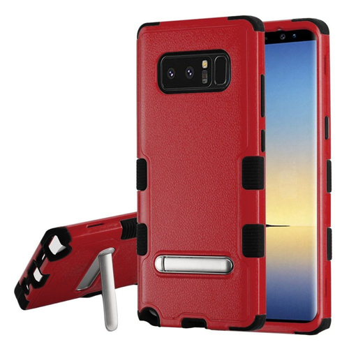 Insten Tuff Hard Dual Layer Plastic TPU Cover Case w/stand For Samsung Galaxy Note 8 - Red/Black