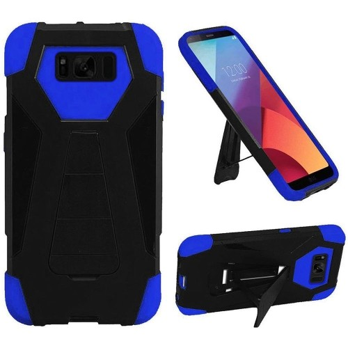 Insten Hard Hybrid Plastic TPU Case For Samsung Galaxy S8 Active - Black/Blue