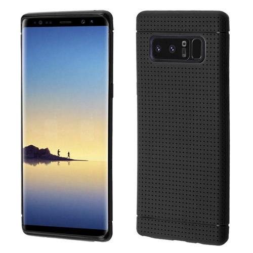 Insten Lattice Points Gel Case For Samsung Galaxy Note 8 - Black