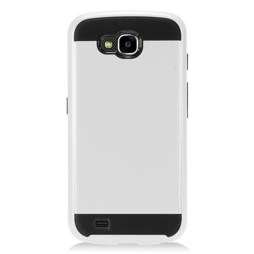 Insten Hard Hybrid Brushed TPU Cover Case For LG X Venture - Silver/Black