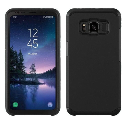 Insten Astronoot Hard Dual Layer Plastic TPU Case For Samsung Galaxy S8 Active - Black