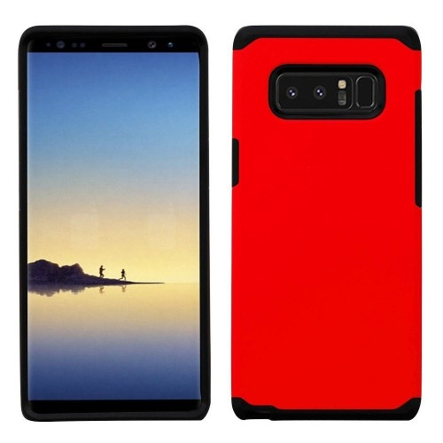 Insten Astronoot Hard Dual Layer Plastic TPU Cover Case For Samsung Galaxy Note 8 - Red/Black