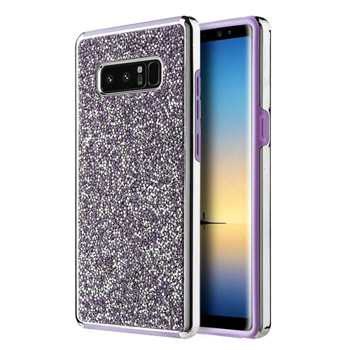 Insten Hard Bling Cover Case For Samsung Galaxy Note 8 - Purple