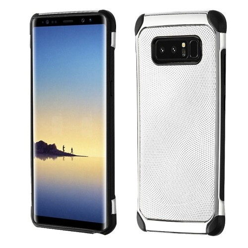 Insten Astronoot Hard Hybrid TPU Cover Case For Samsung Galaxy Note 8 - Silver/Black