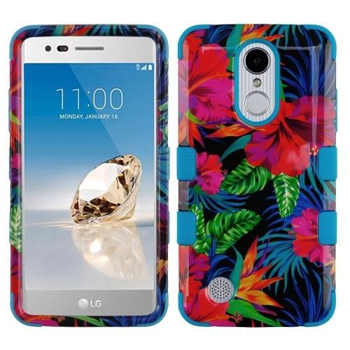 Insten Hibiscus Hard Case For LG Aristo/Fortune/K4 (2017)/K8 (2017)/Phoenix 3/Rebel 2, Multi-Color