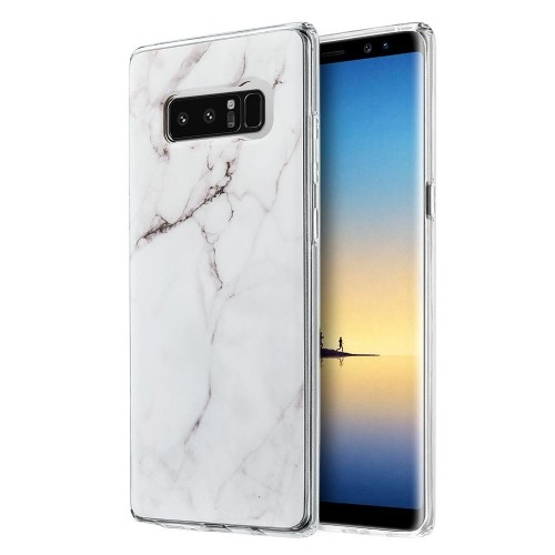 Insten Marble TPU Case For Samsung Galaxy Note 8 - White