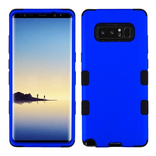 Insten Tuff Hard Dual Layer Metallic TPU Cover Case For Samsung Galaxy Note 8 - Blue/Black