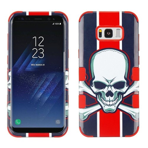 Insten Union Jack Skull Hard Dual Layer Plastic TPU Cover Case For Samsung Galaxy S8, Multi-Color