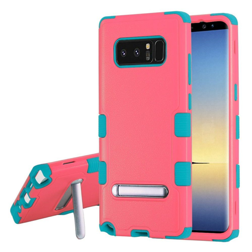 Insten Tuff Hard Hybrid Plastic TPU Case w/stand For Samsung Galaxy Note 8 - Pink/Teal