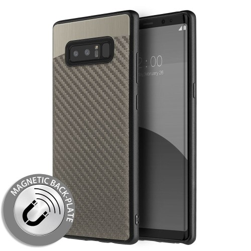 Insten Carbon Metallic Fusion Gel Case For Samsung Galaxy Note 8 - Gray