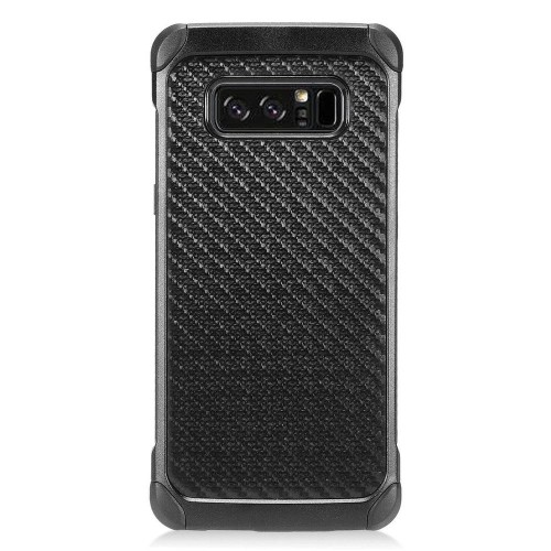 Insten Carbon Fiber Hard Hybrid Plastic TPU Cover Case For Samsung Galaxy Note 8 - Black