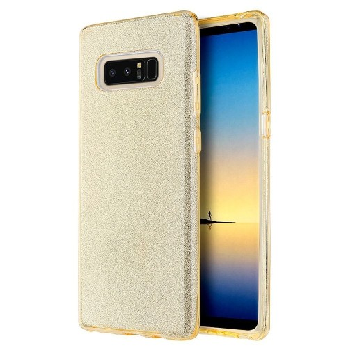 Insten Starry Dazzle Hard Plastic TPU Case For Samsung Galaxy Note 8 - Gold