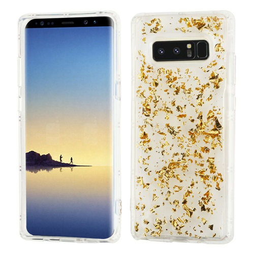 Insten Flakes Gel Case For Samsung Galaxy Note 8 - Gold