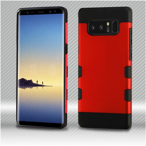 Insten Hard Hybrid Plastic TPU Cover Case For Samsung Galaxy Note 8 - Red/Black