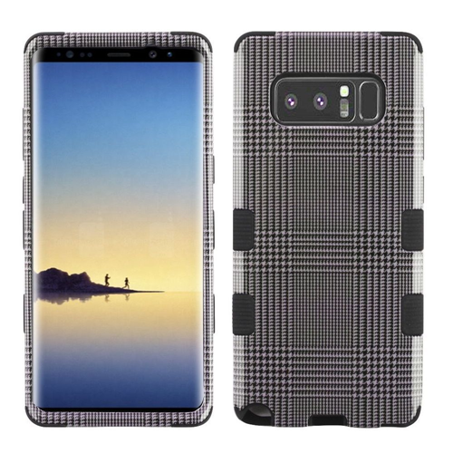 Insten Tuff Blazer Hard Dual Layer Plastic TPU Case For Samsung Galaxy Note 8 - Gray/Black