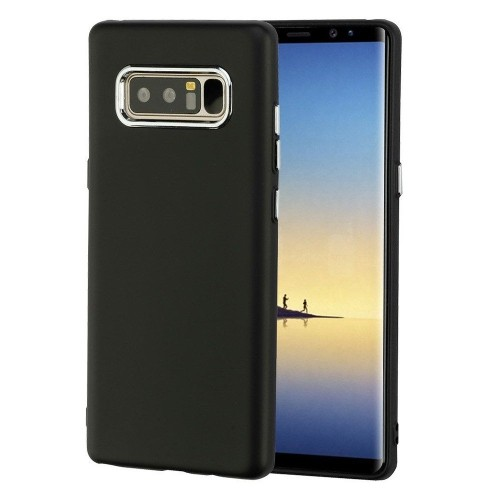 Insten Electroplating Accents TPU Cover Case For Samsung Galaxy Note 8 - Black