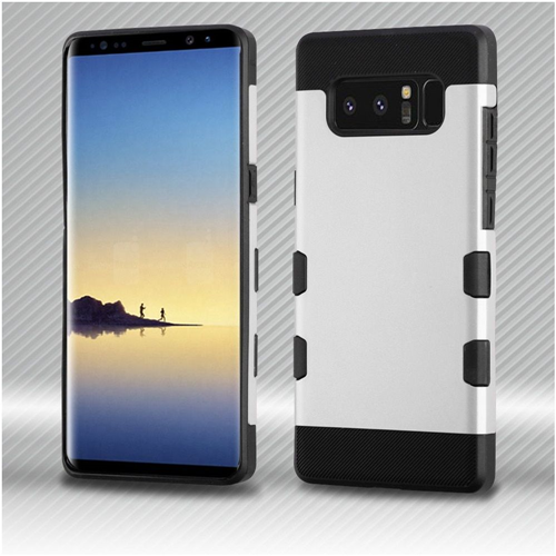 Insten Tuff Hard Dual Layer TPU Cover Case For Samsung Galaxy Note 8 - Silver/Black