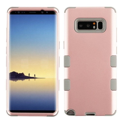 Insten Tuff Hard Hybrid Plastic TPU Cover Case For Samsung Galaxy Note 8 - Rose Gold/Gray