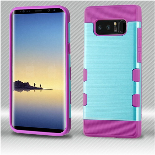 Insten Tuff Hard Hybrid Brushed TPU Case For Samsung Galaxy Note 8 - Blue/Purple
