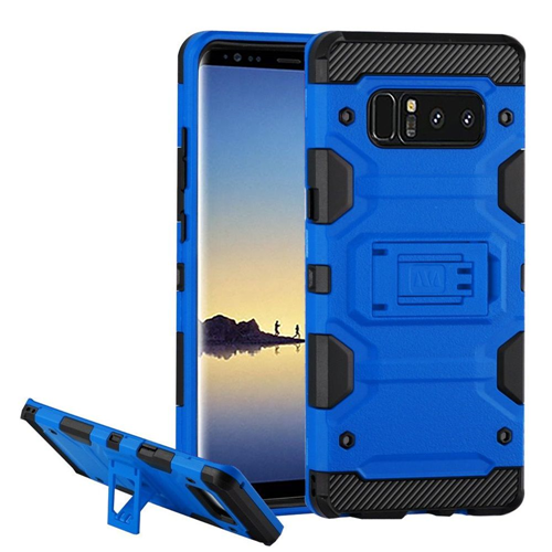 Insten Storm Tank Hard Hybrid TPU Cover Case w/stand For Samsung Galaxy Note 8 - Blue/Black