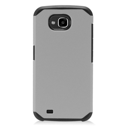 Insten Hard Dual Layer Plastic TPU Cover Case For LG X Venture - Gray/Black
