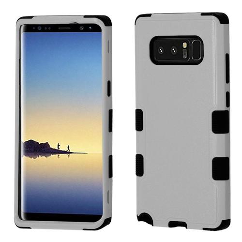 Insten Tuff Hard Dual Layer Plastic TPU Case For Samsung Galaxy Note 8 - Gray/Black