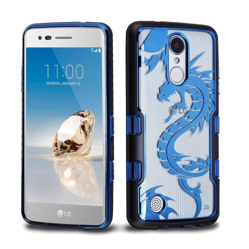 Insten Fitted Hard Shell Case for LG Aristo;Phoenix 3;Fortune;Lv3;K8;K4 - Blue