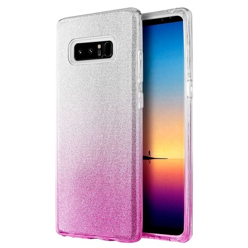 Insten Starry Dazzle Hard Plastic TPU Case For Samsung Galaxy Note 8 - Silver/Pink