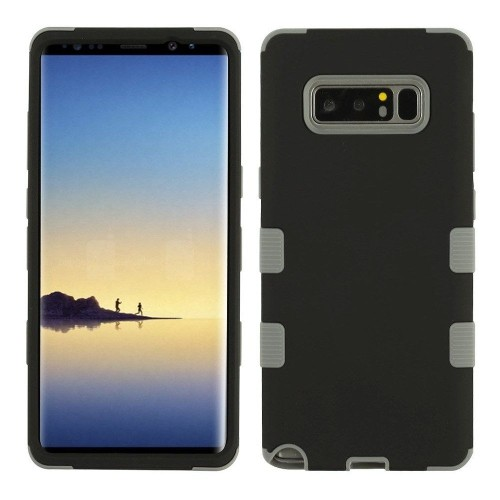 Insten Tuff Hard Hybrid TPU Cover Case For Samsung Galaxy Note 8 - Black/Gray