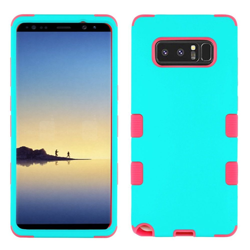 Insten Tuff Hard Dual Layer TPU Case For Samsung Galaxy Note 8 - Teal/Hot Pink