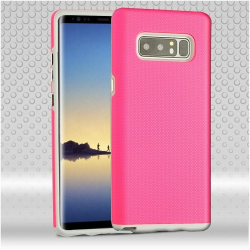 Insten Fusion Hard Hybrid Plastic TPU Case For Samsung Galaxy Note 8 - Pink/Gray