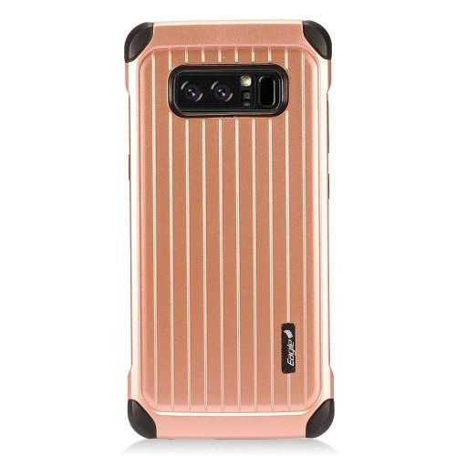 Insten Carry On Hard Dual Layer Plastic Case For Samsung Galaxy Note 8 - Rose Gold/Black