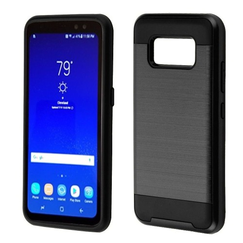 Insten Hard Hybrid Brushed TPU Case For Samsung Galaxy S8 Active - Black