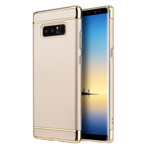Insten Griptech Hard Dual Layer Rubber Cover Case For Samsung Galaxy Note 8 - Gold/Silver
