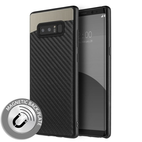 Insten Carbon Metallic Fusion Gel Cover Case For Samsung Galaxy Note 8 - Black