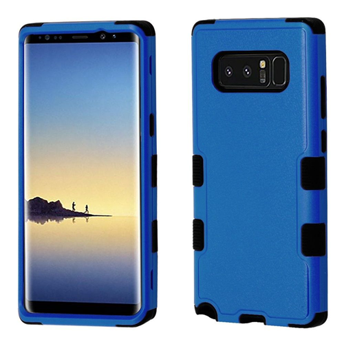 Insten Tuff Hard Dual Layer Plastic TPU Case For Samsung Galaxy Note 8 - Blue/Black