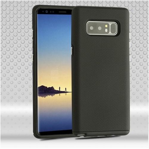 Insten Fusion Hard Hybrid Plastic TPU Case For Samsung Galaxy Note 8 - Black