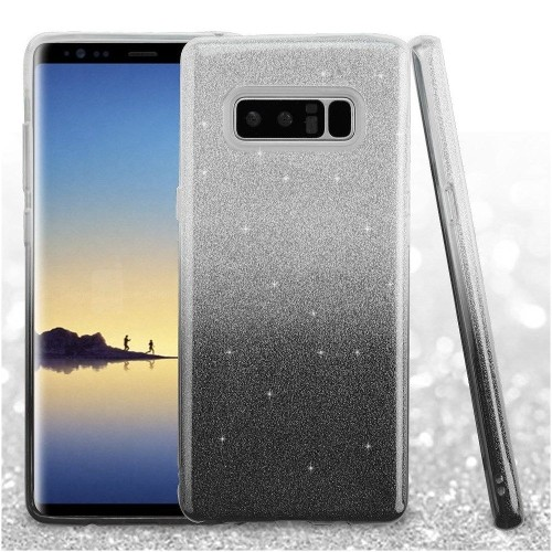 Insten Gradient Glitter Hard Hybrid Plastic TPU Case For Samsung Galaxy Note 8 - Black