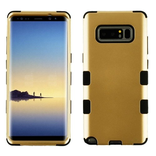 Insten Tuff Hard Dual Layer Plastic TPU Cover Case For Samsung Galaxy Note 8 - Gold/Black