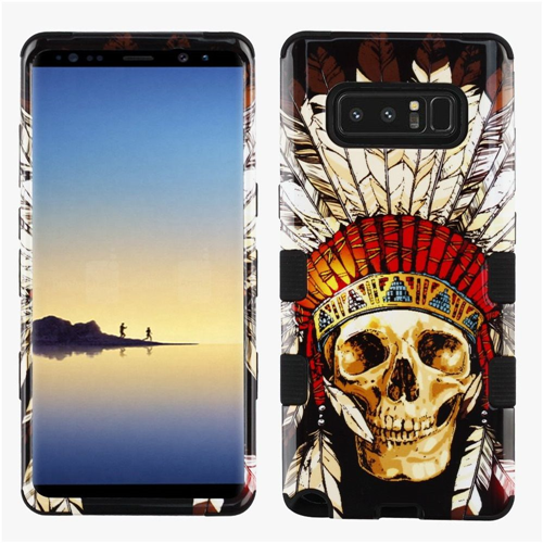 Insten Tuff Dead Chief Skull Hard Dual Layer Plastic TPU Case For Samsung Galaxy Note 8, Multi-Color