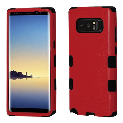 Insten Tuff Hard Hybrid Plastic TPU Case For Samsung Galaxy Note 8 - Red/Black