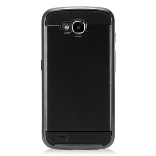 Insten Hard Hybrid Brushed TPU Cover Case For LG X Venture - Black