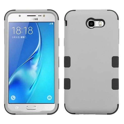 Insten Hard TPU Case For Samsung Galaxy Halo/J7 (2017)/J7 Perx/J7 Prime/J7 Sky Pro/J7 V, Gray/Black