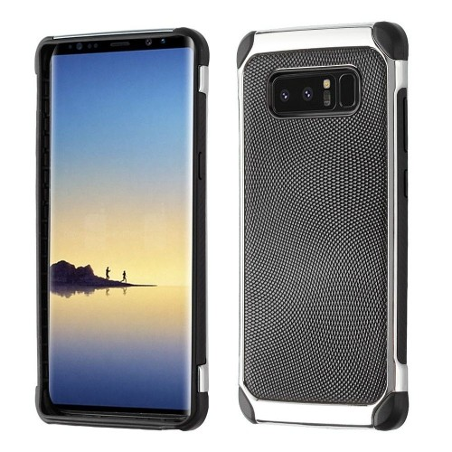Insten Astronoot Dots Hard Hybrid Plastic TPU Case For Samsung Galaxy Note 8 - Black