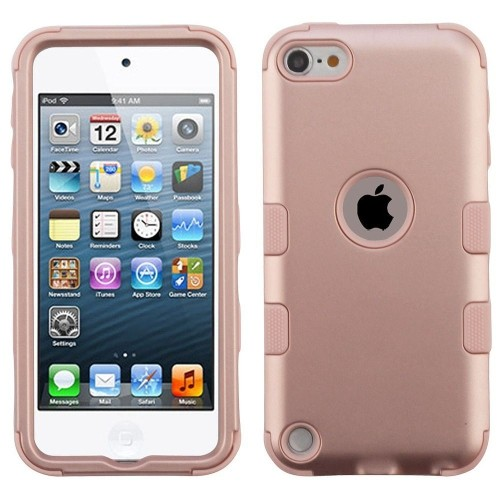 Insten Tuff Hard Dual Layer Plastic TPU Cover Case For Apple iPod Touch 5th Gen/6th Gen - Rose Gold