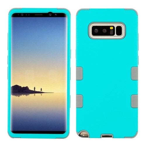 Insten Tuff Hard Dual Layer TPU Cover Case For Samsung Galaxy Note 8 - Teal/Gray