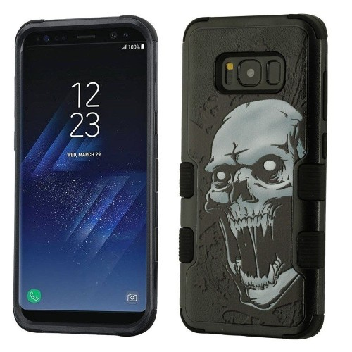 Insten Tuff Vampire Hard Dual Layer Plastic TPU Case For Samsung Galaxy S8 - Black