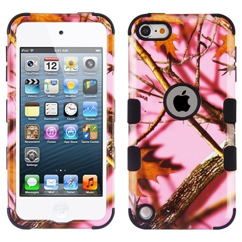 Insten Oak-Hunting Camouflage Hard Plastic Cover Case For iPod Touch 5th Gen/6th Gen, Pink/Black
