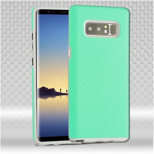 Insten Fusion Hard Hybrid Plastic TPU Case For Samsung Galaxy Note 8 - Teal/Gray